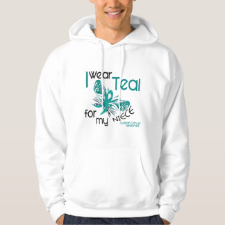 I Wear Teal For My Niece 45 Ovarian Cancer Hoodie