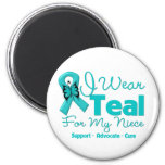 I Wear Teal For My Niece Fridge Magnets
