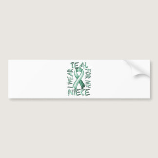 I Wear Teal for my Niece.png Bumper Sticker