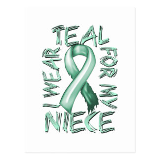 I Wear Teal for my Niece.png Postcard
