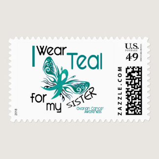 I Wear Teal For My Sister 45 Ovarian Cancer Postage