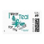 I Wear Teal For My Sister 45 Ovarian Cancer Postage Stamps