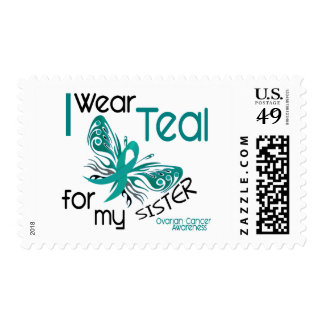 I Wear Teal For My Sister 45 Ovarian Cancer Stamp