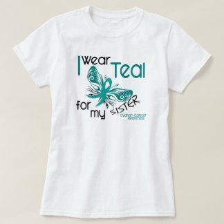 I Wear Teal For My Sister 45 Ovarian Cancer Tee Shirt