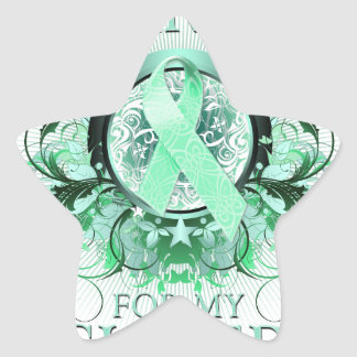 I Wear Teal for my Sister (floral).png Star Sticker