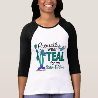 I Wear Teal For My Sister-In-Law 27 Ovarian Cancer Tshirt