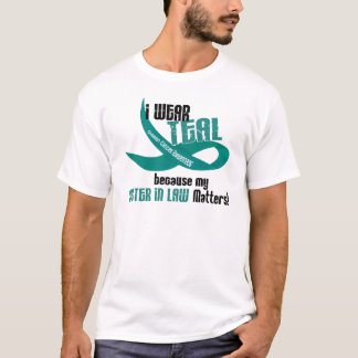 I Wear Teal For My Sister-In-Law 33 Apparel T-Shirt