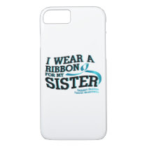 I Wear Teal For My Sister Ovarian Cancer Awareness iPhone 8/7 Case