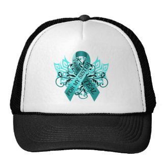 I Wear Teal for my Sister.png Hats