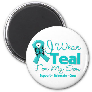 I Wear Teal For My Son 2 Inch Round Magnet