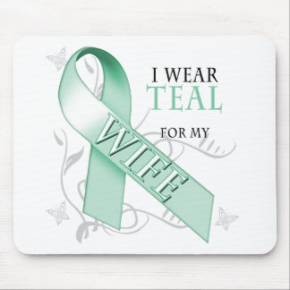 I Wear Teal for my Wife Mouse Pad