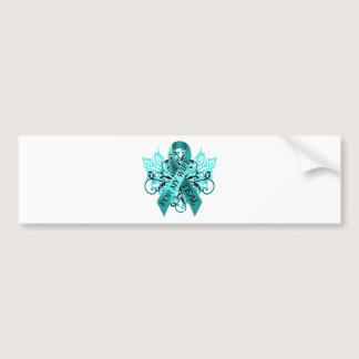 I Wear Teal for my Wife.png Bumper Sticker