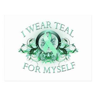 I Wear Teal for Myself (floral).png Postcard