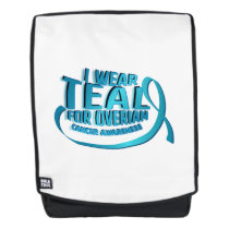 I Wear Teal For Ovarian Cancer Awareness Backpack