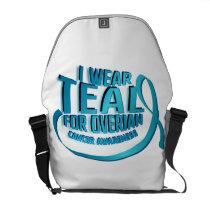 I Wear Teal For Ovarian Cancer Awareness Courier Bag