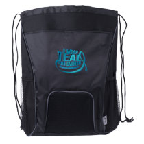 I Wear Teal For Ovarian Cancer Awareness Drawstring Backpack