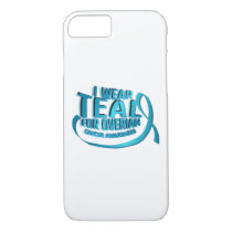 I Wear Teal For Ovarian Cancer Awareness iPhone 8/7 Case