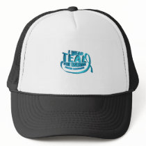 I Wear Teal For Ovarian Cancer Awareness Trucker Hat