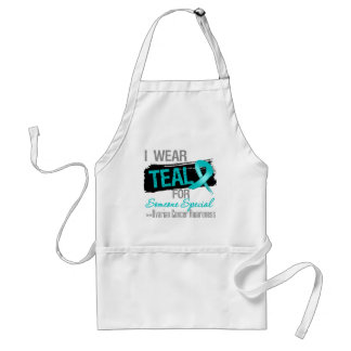 I Wear Teal For Someone Special Ovarian Cancer Adult Apron