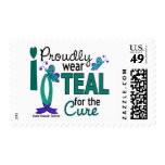 I Wear Teal For The Cure 27 Ovarian Cancer Postage Stamp