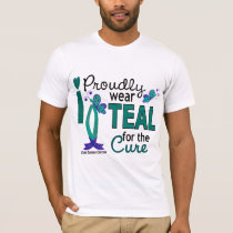 I Wear Teal For The Cure 27 Ovarian Cancer T-Shirt