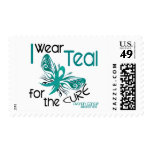 I Wear Teal For The Cure 45 Ovarian Cancer Postage Stamps