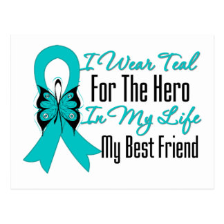 I Wear Teal For The Hero My Life, My Best Friend Post Cards