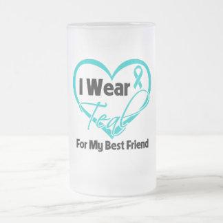 I Wear Teal Heart Ribbon For My Best Friend Coffee Mug