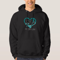 I Wear Teal Heart Ribbon For My Daughter Hoodie