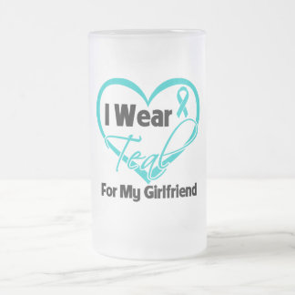I Wear Teal Heart Ribbon For My Girlfriend Mugs