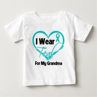 I Wear Teal Heart Ribbon For My Grandma Tee Shirt