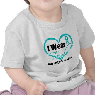 I Wear Teal Heart Ribbon For My Grandpa T-shirts