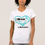 I Wear Teal Heart Ribbon For My Grandson T-shirts