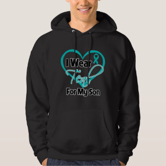 I Wear Teal Heart Ribbon For My Son Hoodie