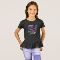 I Wear Teal Pink Blue For Thyroid Cancer Awarenes T-Shirt