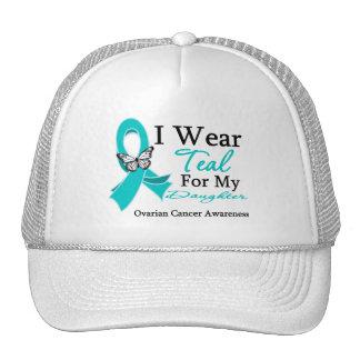 I Wear Teal Ribbon Daughter Ovarian Cancer Trucker Hat