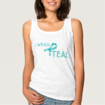 I Wear Teal Ribbon Food Allergy Awareness Tank Top