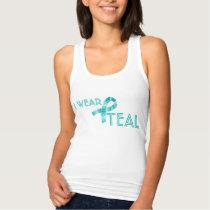 I Wear Teal Ribbon Food Allergy Awareness Tank Top
