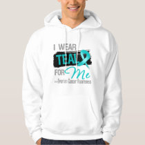 I Wear Teal Ribbon For Me - Ovarian Cancer Hoodie