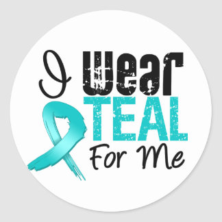I Wear Teal Ribbon For Me Sticker