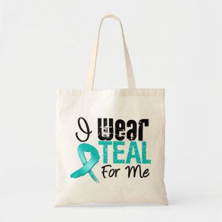 I Wear Teal Ribbon For Me Tote Bag