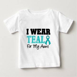 I Wear Teal Ribbon For My Aunt Baby T-Shirt