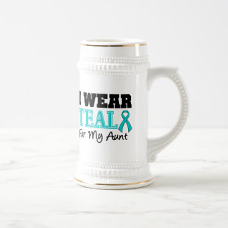 I Wear Teal Ribbon For My Aunt Coffee Mugs