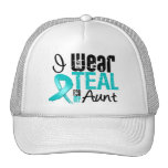 I Wear Teal Ribbon For My Aunt Mesh Hat