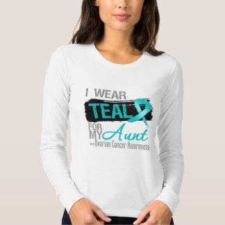 I Wear Teal Ribbon For My Aunt Ovarian Cancer T-shirt