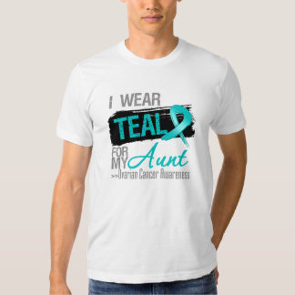 I Wear Teal Ribbon For My Aunt Ovarian Cancer T-shirts
