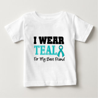 I Wear Teal Ribbon For My Best Friend Tshirts