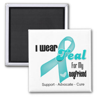 I Wear Teal Ribbon For My Boyfriend Refrigerator Magnets