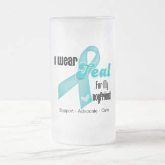 I Wear Teal Ribbon For My Boyfriend Mugs