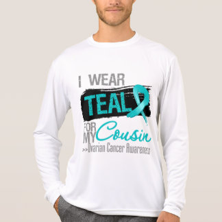 I Wear Teal Ribbon For My Cousin Ovarian Cancer T-shirt